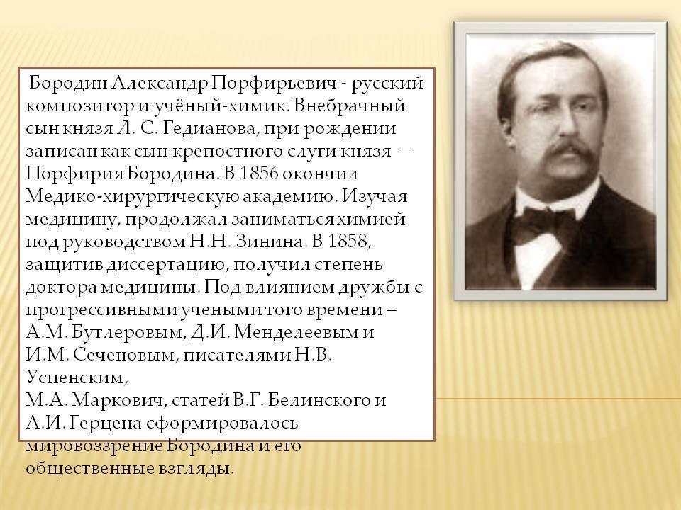 Бородин Александр Порфирьевич