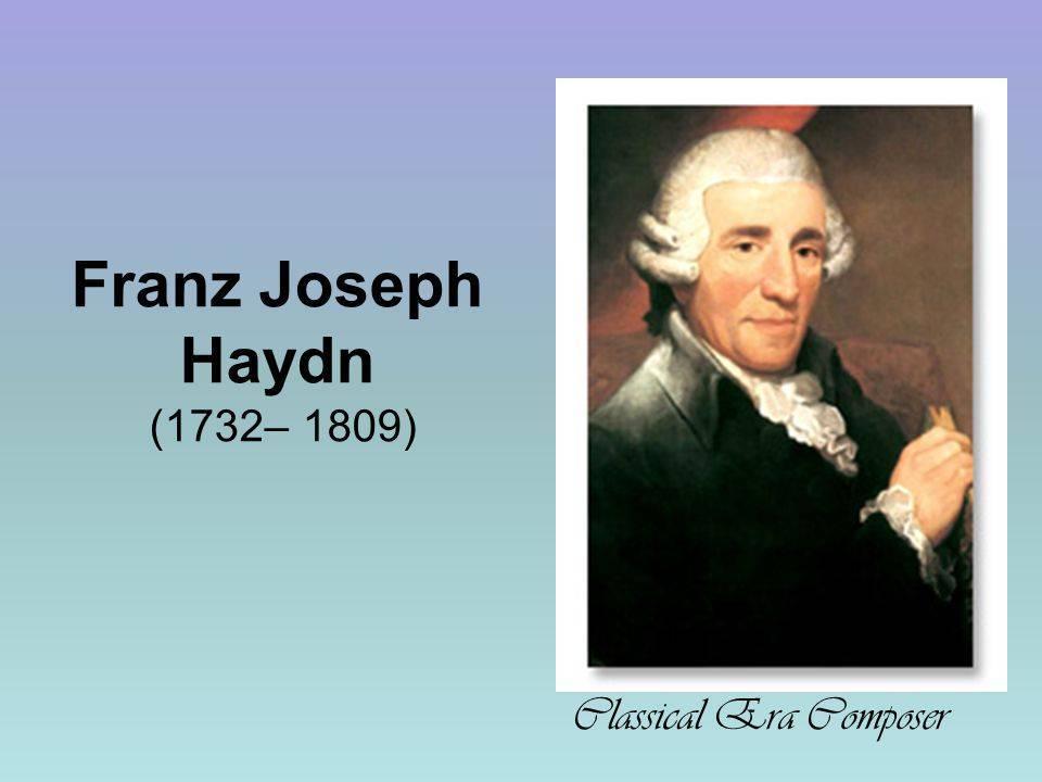 Краткая биография йозефа гайдна   краткие биографии