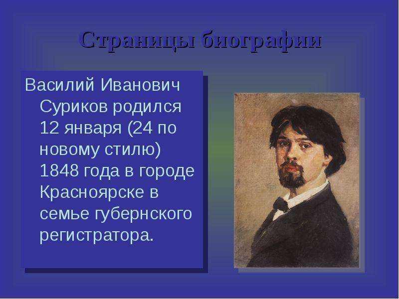 Суриков, василий иванович — википедия