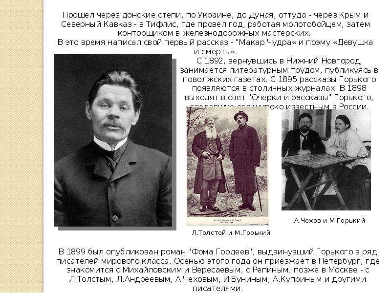 Краткая биография максима горького