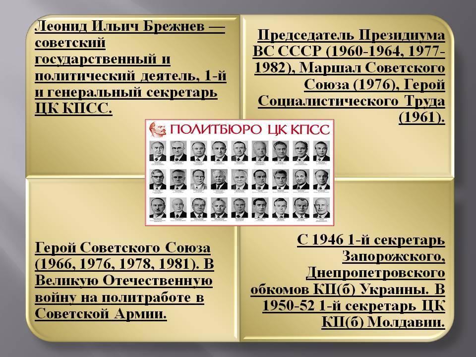 Биография Леонида Брежнева