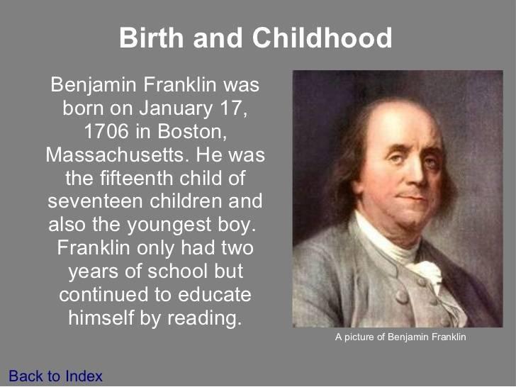 Бенджамин. франклин. биография