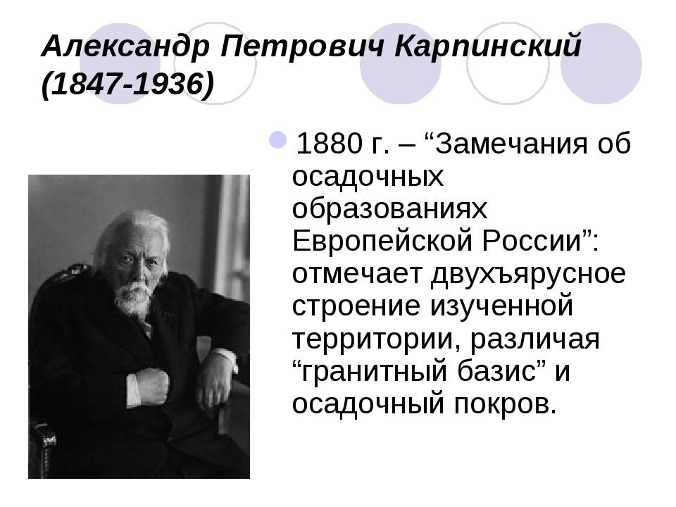 Карпинский александр петрович — краткие биографии