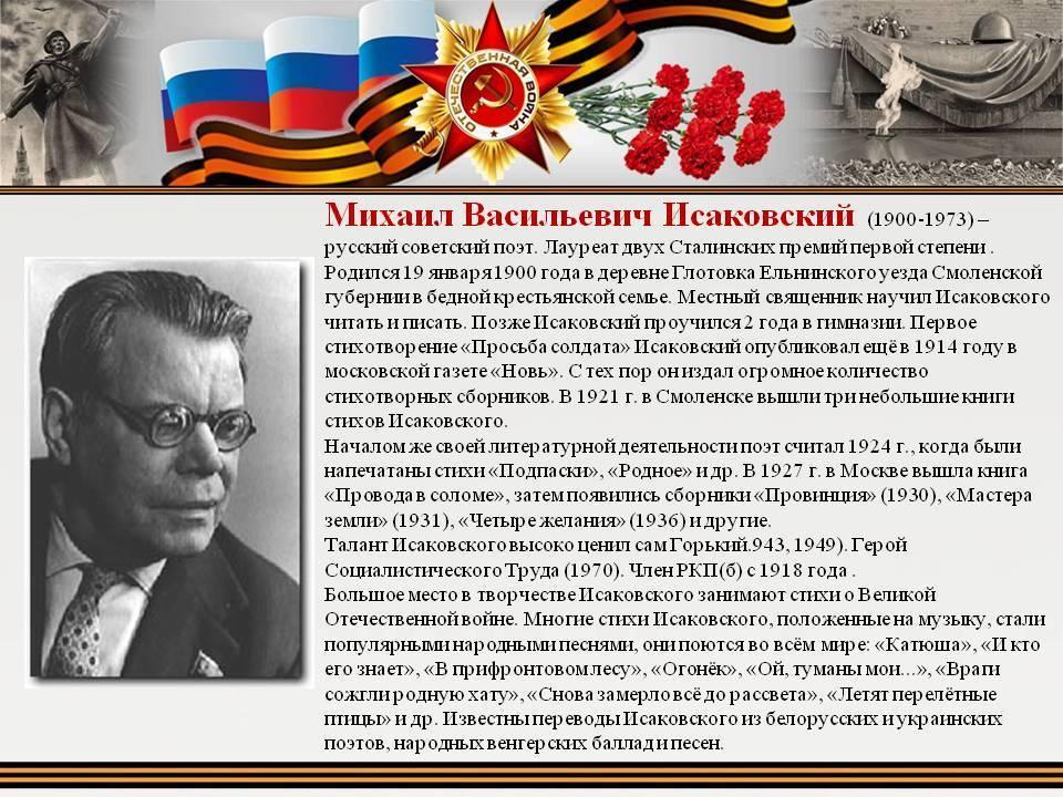 Михаил исаковский - вики