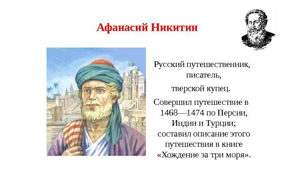 Афанасий никитин биография, афанасий никитин в названиях, афанасий никитин в кинематографе, памятники