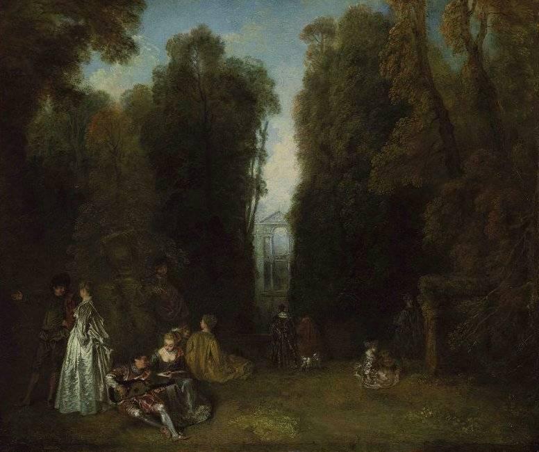 Антуан ватто — мастер галантной французской живописи