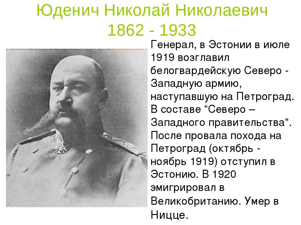 Юденич, николай николаевич — википедия