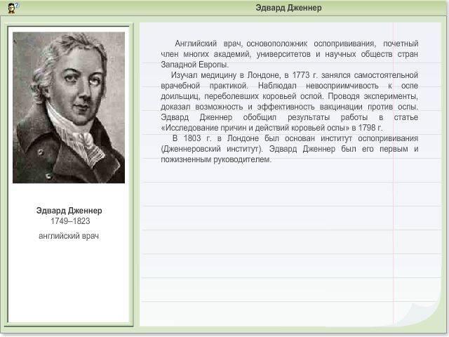 Научная биография э. дженнера – сайт 1796