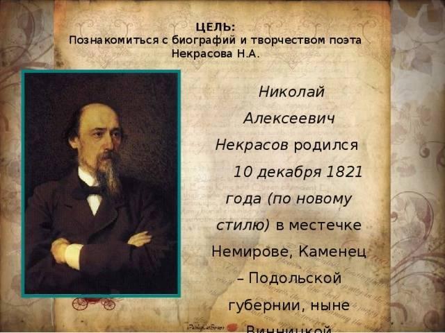 Николай некрасов - биография, личная жизнь, фото