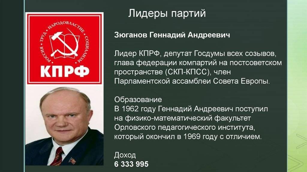 Геннадий зюганов - биография, информация, личная жизнь