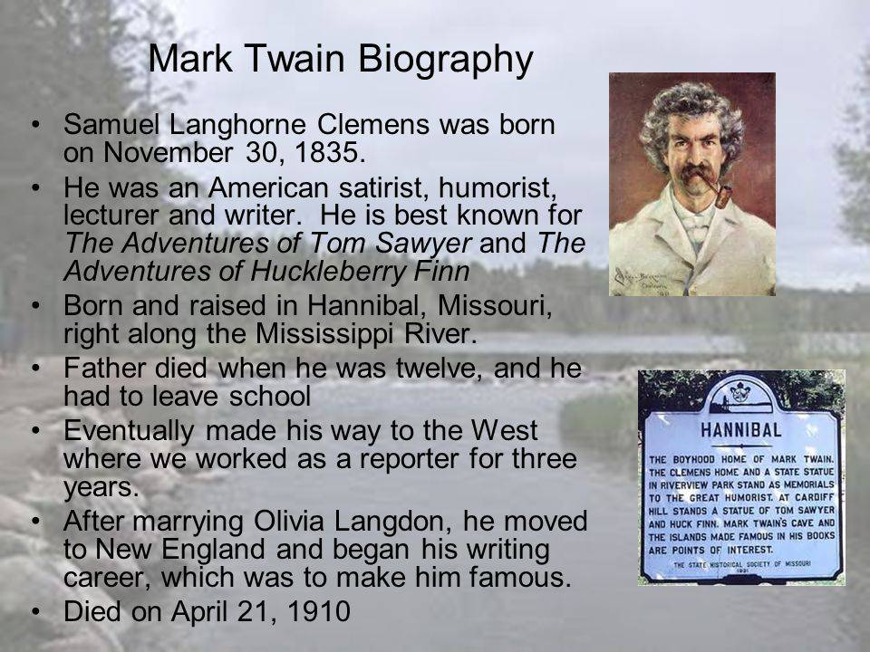 Марк твен ℹ️ биография, настоящее имя сэмюэл лэнгхорн клеменс, национальность, рассказы, популярные произведения, слухи о смерти писателя, интересные факты из жизни, книги