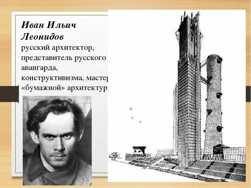 Биография Ивана Леонидова