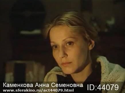 Биография Анны Каменковой