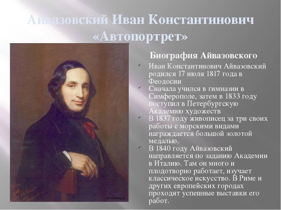 Иван айвазовский   история живописи вики   fandom