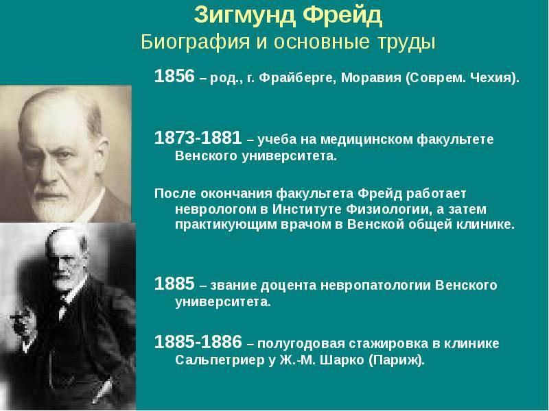 Зигмунд фрейд: биография, жизнь психолога - кто такой и чем известен психоаналитик