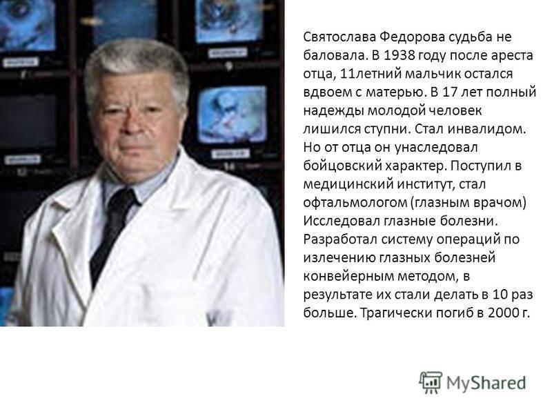 Вот за что был убит великий офтальмолог федоров: интересные новости newsland – комментарии, дискуссии и обсуждения новости.