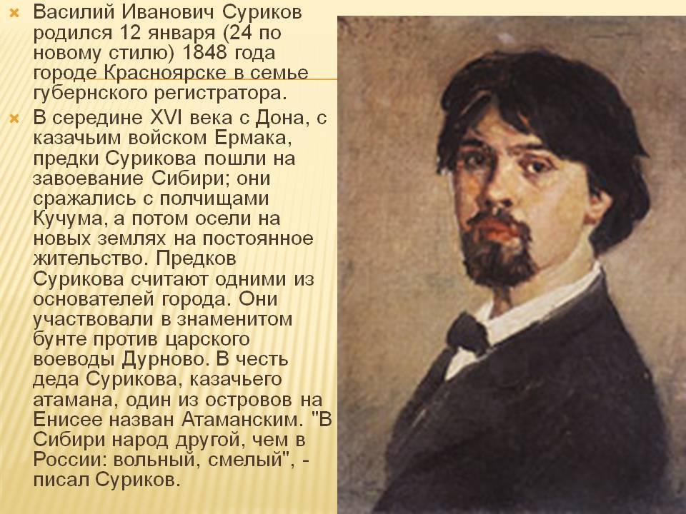 Theperson: василий суриков, биография, история жизни, творчество