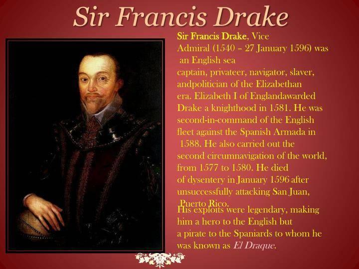 Фрэнсис дрейк (francis drake) - биография, информация, личная жизнь