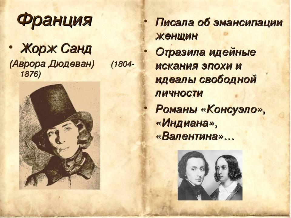 Жорж санд: биография писательницы. романы и личная жизнь авроры дюпен