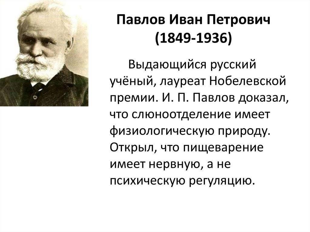 Иван петрович павлов и его вклад в науку
