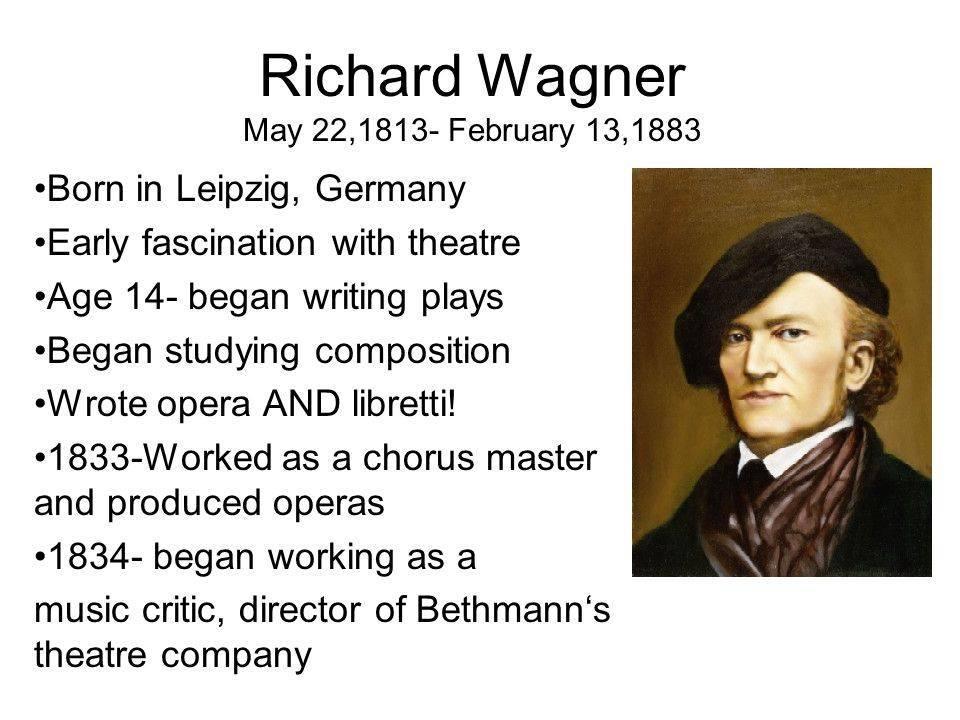 Вагнер, рихард — википедия. что такое вагнер, рихард