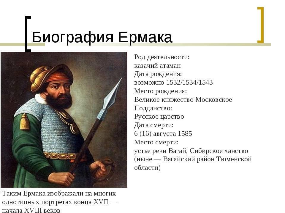 Ермак тимофеевич — википедия. что такое ермак тимофеевич