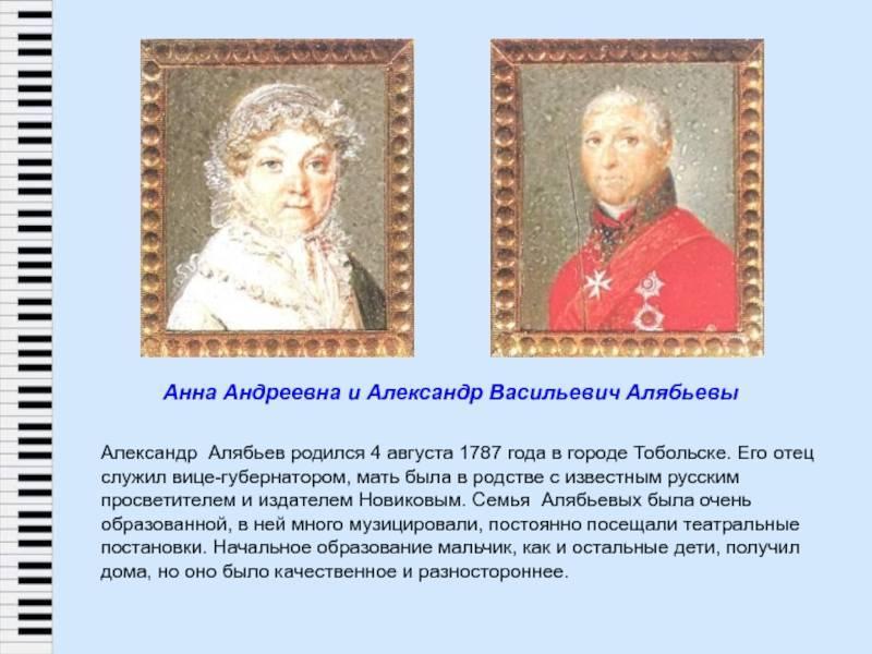 Александр алябьев: краткая биография, фото алябьева александра александровича