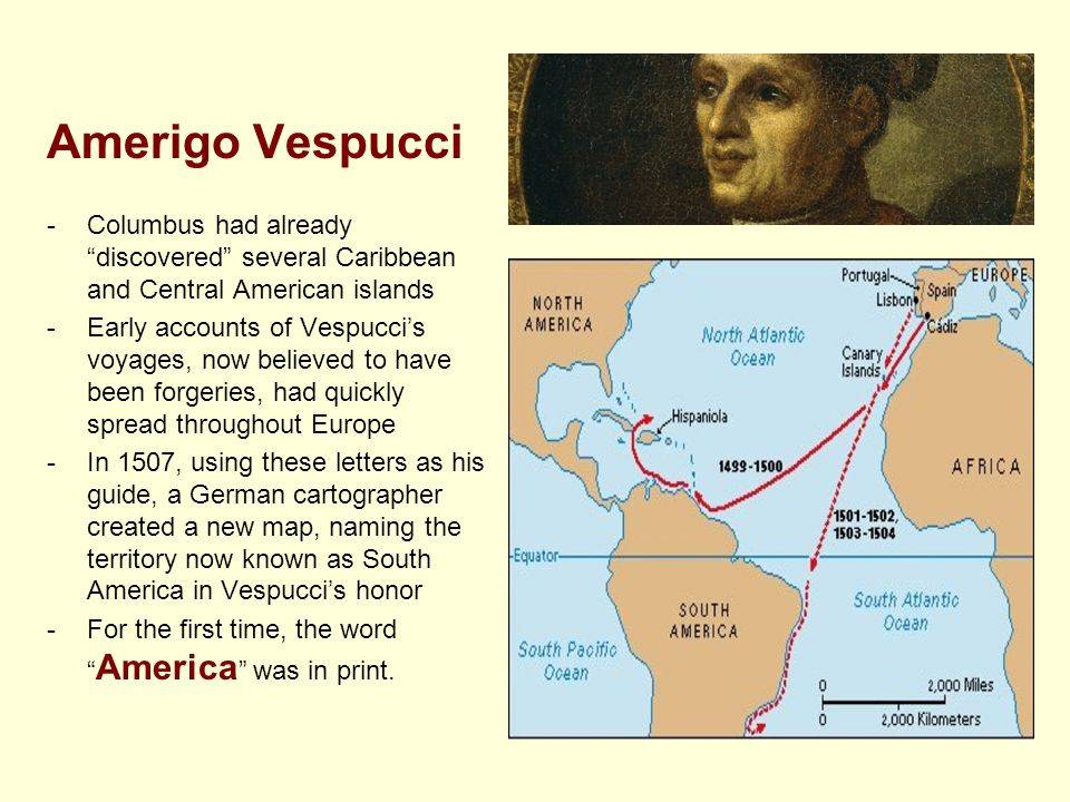 Мореплаватель америго веспуччи: краткая биография, путешествия, открытия