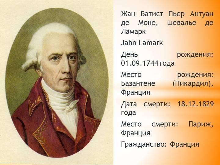 Жан батист ламарк: вклад в биологию, достижения и заслуги :: syl.ru