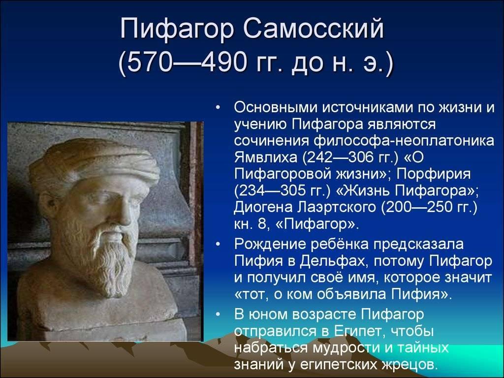 Пифагор самосский биография