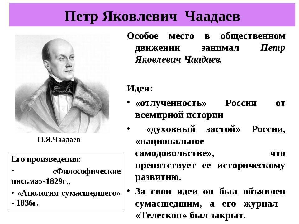 Пётр чаадаев — биография. факты. личная жизнь