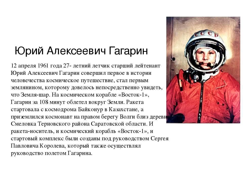 Космический полёт гагарина: что следует знать об одном из главных событий xx века
