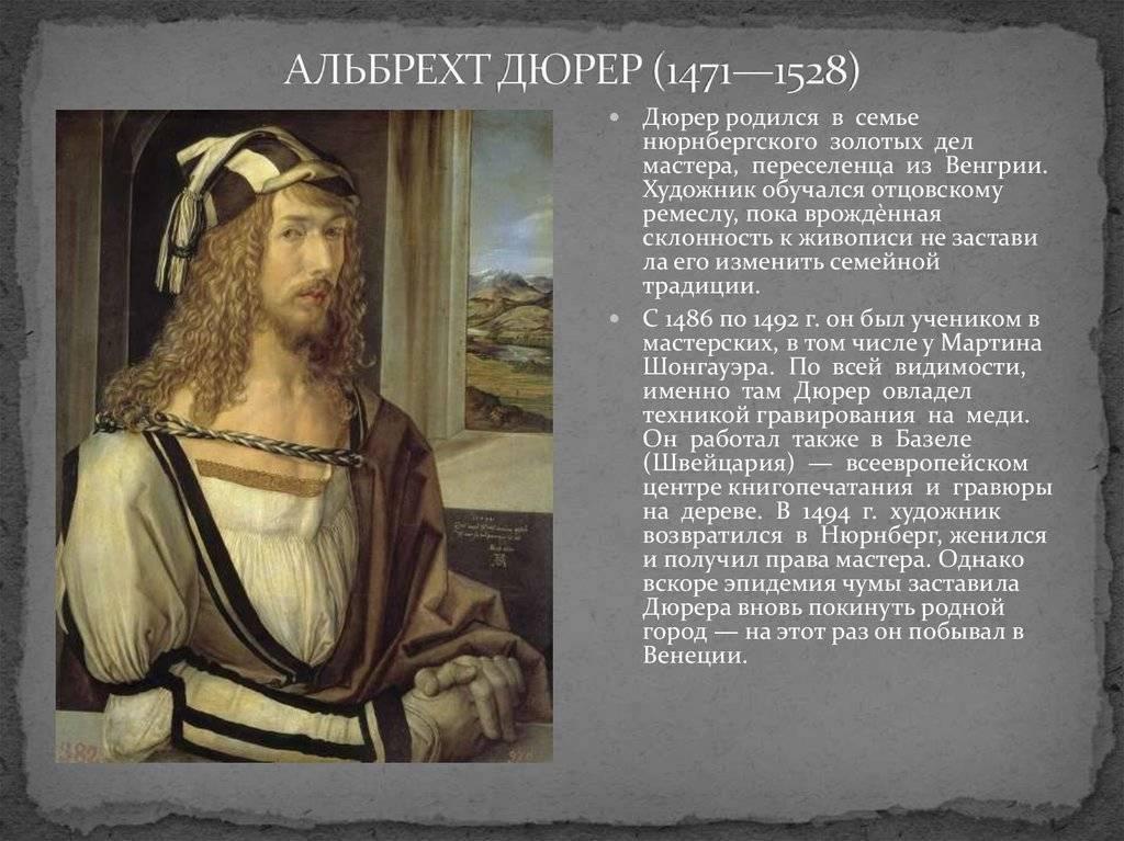 Альбрехт дюрер — немецкий гений искусства эпохи ренессанса