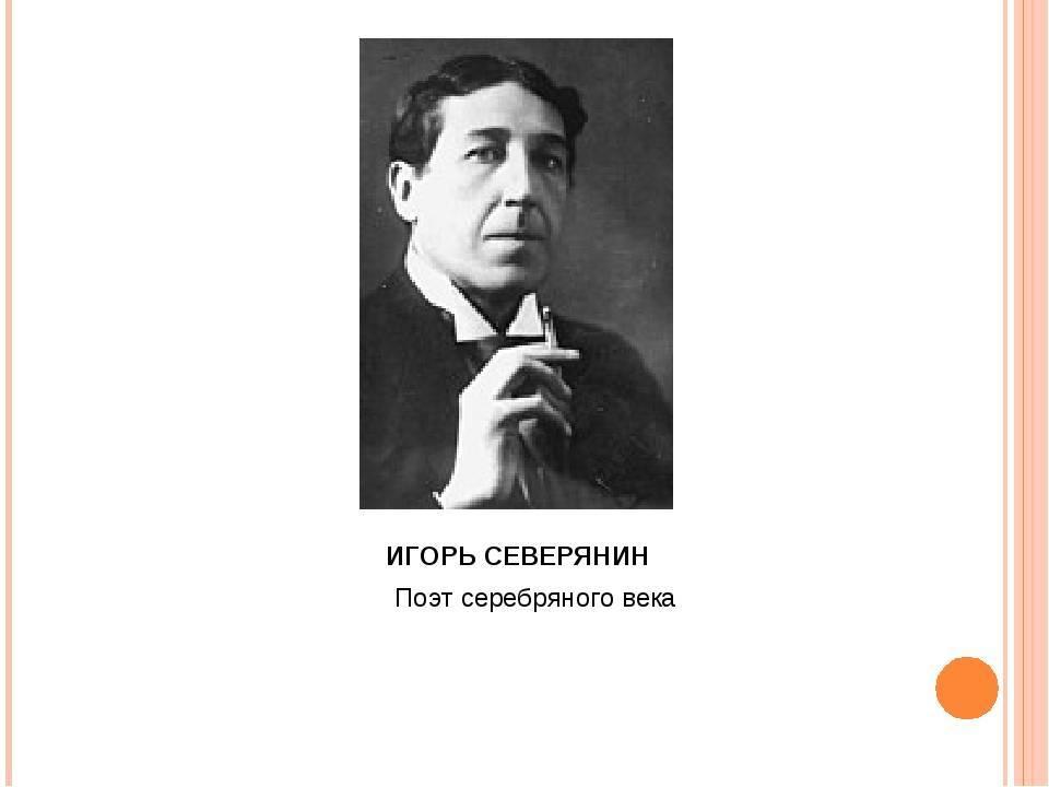 Игорь северянин: биография и творчество, интересные факты из жизни поэта