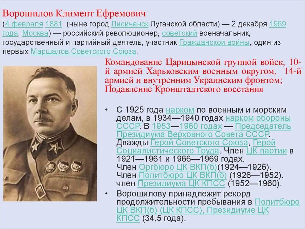 Ворошилов климент ефремович - биография, новости, фото, дата рождения, пресс-досье. персоналии глобалмск.ру.