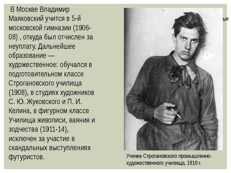 Биография владимира маяковского - биография, интересные факты, достижения