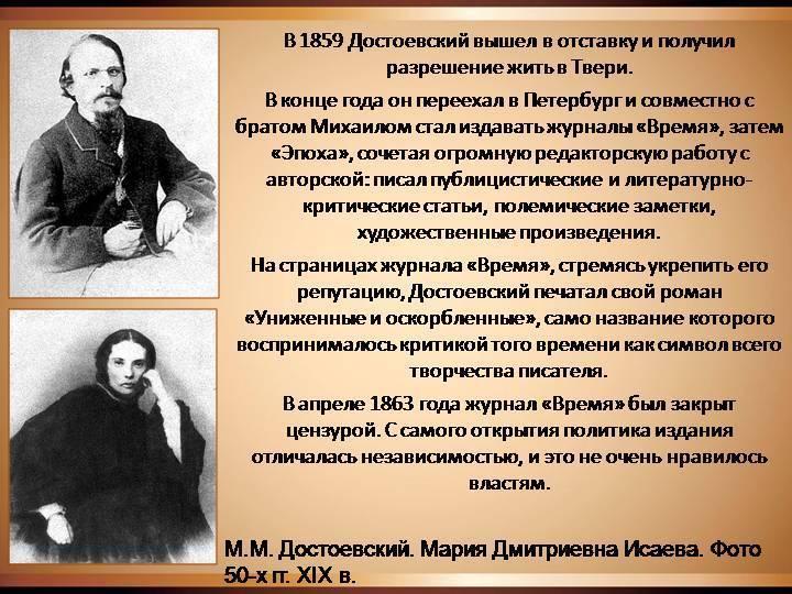 Биография достоевского – кратко самое главное: кто это такой, история жизни и творчества писателя | tvercult.ru