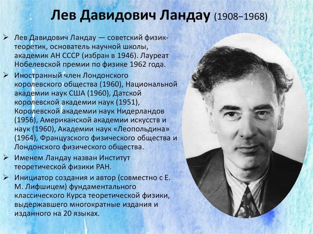Ландау Лев Давидович