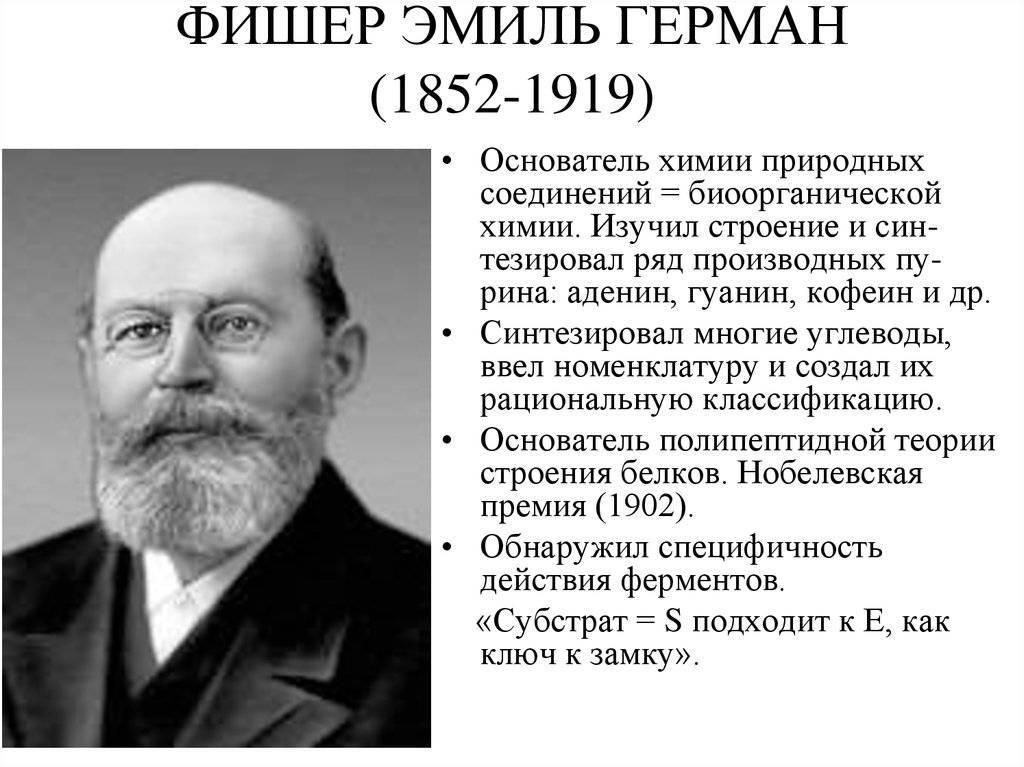 Фишер, герман эмиль биография, исследования, память, награды