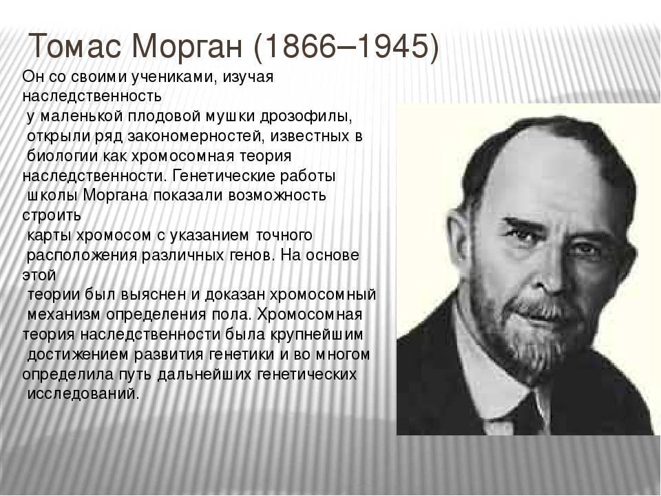 Томас морган | cell biology.ru