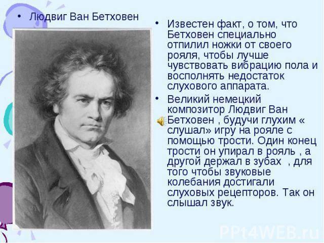 Людвиг ван бетховен: биография и творчество композитора