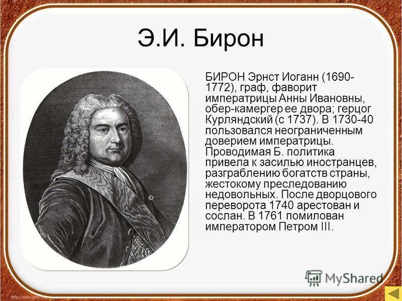 Бирон, Карл Эрнст Иоганн