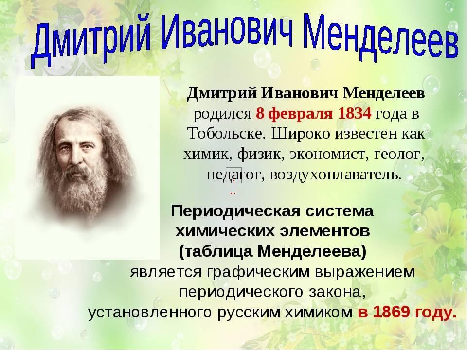 Менделеев, дмитрий иванович — электронная энциклопедия тгу