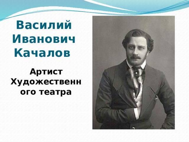 Василий качалов - ведущий актер художественного театра