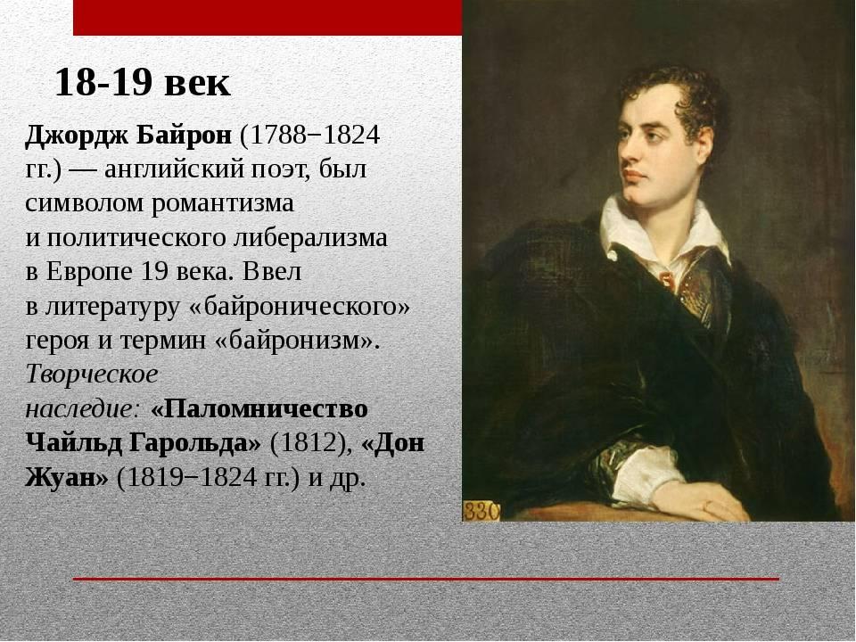 Биография Джорджа Байрона