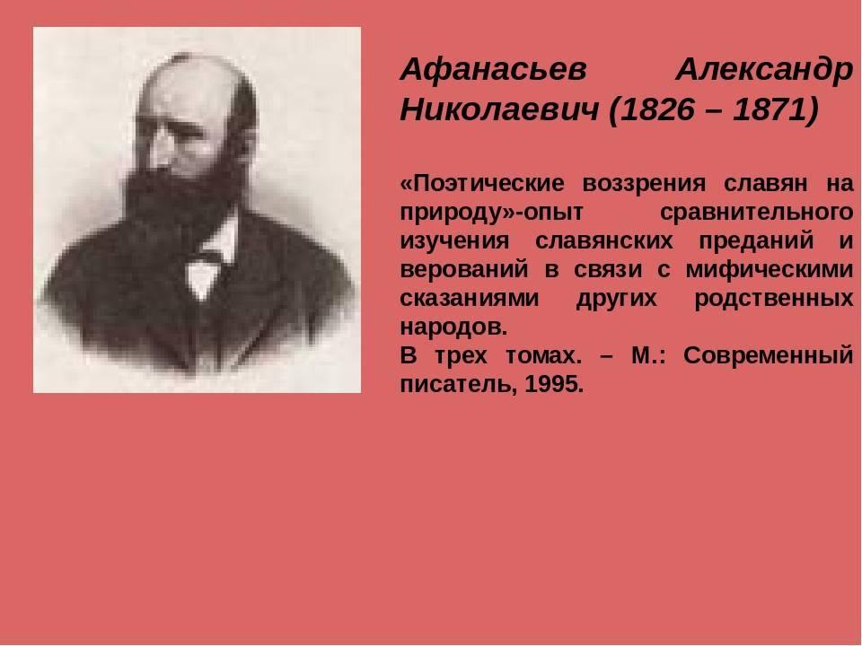 Александр афанасьев и его произведения