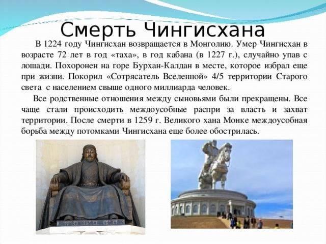 Чингисхан - походы, завоевания - битвы, даты, войны - кратко