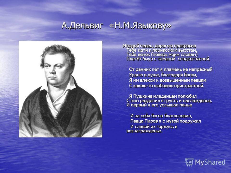 Языков николай михайлович биография, стихи, статьи, критика, письма