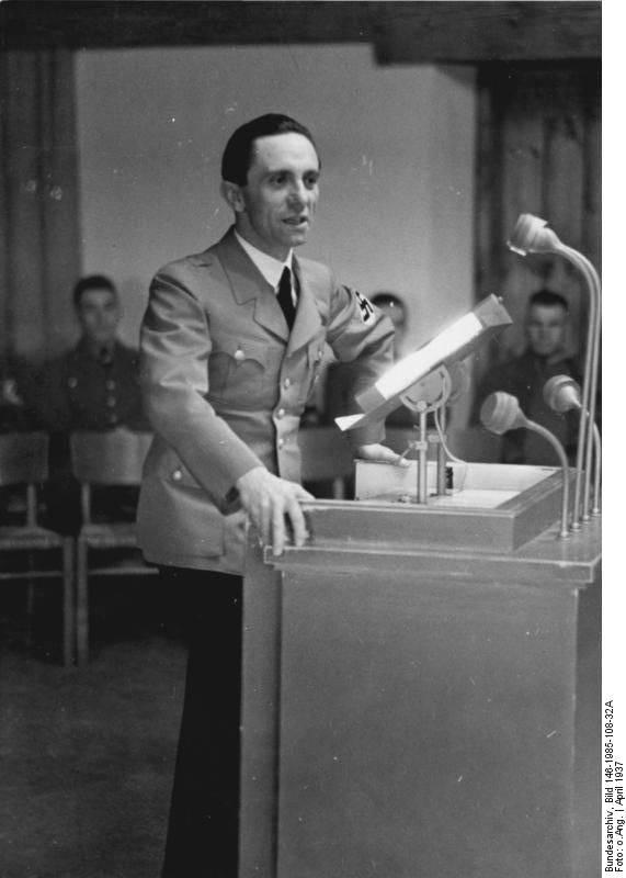 Йозеф геббельс — теоретик и практик психологической войны третьего рейха против ссср.