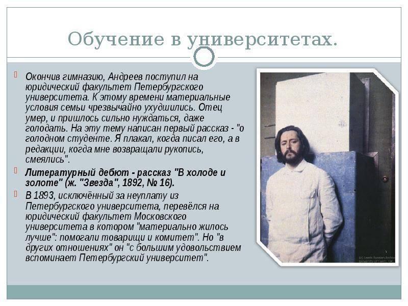 Краткая биография леонида андреева самое главное